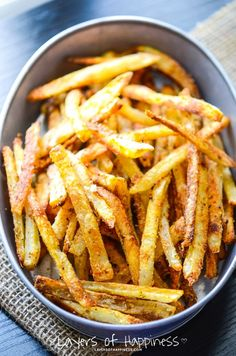 Extra Crispy Oven Baked French Fries. - Layers of Happiness