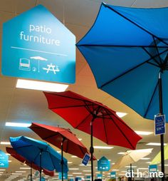 With summer weather officially here, we love these cute patio umbrellas as a way to beat the heat. The best part is they come in all the colors of the rainbow, so there's something that will match anyone's outdoor décor! Patio Umbrellas, Beat The Heat, Types Of Photography, At Home Store, Rainbow Colors, Master Bath, All The Colors, Summertime, Honey
