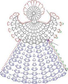 Angel http://tricoecrochet.blogspot.com/search/label/Crochet: