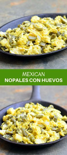 Nopales con huevos is a classic Mexican dish made with prickly pear cactus and scrambled eggs. Packed with protein and amazing nutrients, it's a nutritious and delicious breakfast you'll love waking up to! Egg Recipes, Brunch Recipes, Mexican Food Recipes, Breakfast Recipes, Vegetarian Recipes, Dinner Recipes, Cooking Recipes, Healthy Recipes, Mexican Breakfast