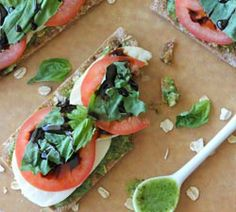 Pesto Caprese Bites with Balsamic Reduction - Damn Delicious Appetizer Recipes, Snack Recipes, Appetizers, Healthy Snacks, Healthy Recipes, Healthy Brunch, Good Food, Yummy Food, Tasty