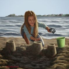 Galería de una afición. : Construyendo castillos de arena
