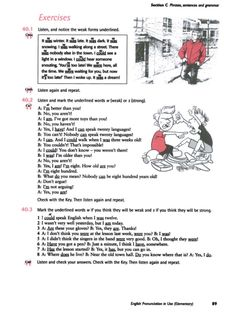 Title Slide of English Pronunciation in Use - Elementary Grammar Exercises, In Use, Sentences, English, Frases, English Language