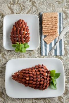 Making this as an appetizer for Christmas, always a hit.  I usually use rosemary for the garnish to make it look more like a pinecone.