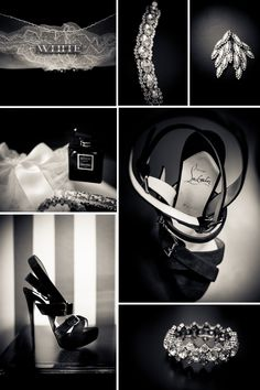 Sexy black and white bridal details