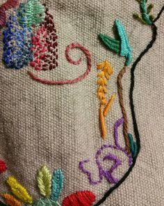 Detalles que relajan! !! #embroidery #bordadoamano