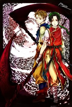 Suikoden I - Ted and Tir McDohl bearers of the Rune of Life and Death, the Soul Eater Rune