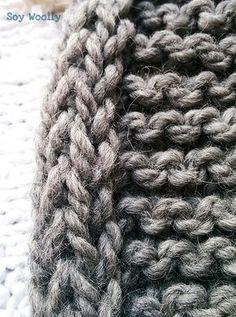 Aprende a tejer los bordes en cordón para más estabilidad al tejido (para que el punto no se enrolle), y así poner una cremallera/ojales en bordes firmes-vídeo! Tips & Tricks, Merino Wool Blanket, Knitting Patterns, Knit Crochet, Projects To Try, Scrap, Cross Stitch, Textiles, Diy Crafts