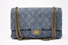 5e74439d36af CHANEL Denim Double Flap Reissue Bag at Rice and Beans Vintage Vintage  Chanel Bag, Vintage