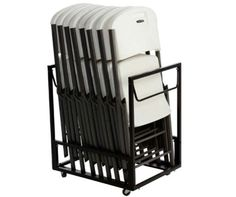 Lifetime Chair Carts - 80279 Standing Folding Chair Rack  sc 1 st  Pinterest & 52 best Table and Chair Storage Carts images on Pinterest | Storage ...