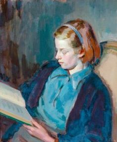 ✉ Biblio Beauties ✉ paintings of women reading letters & books - Henry Lamb, 1947