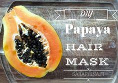 My Papaya DIY hair mask!  @ saraphina.fi