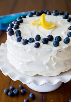 Make this Lemon Blueberry Layer Cake for dessert.