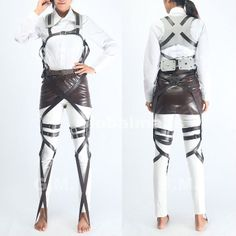 Attack on Titan Cosplay Eren/Ackerman Unisex Shingeki no kyojin Belts and harness - $39.99