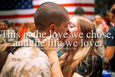 Here's to military spouses.