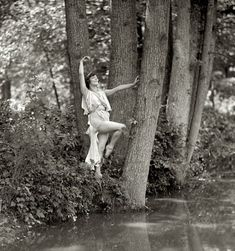 Dorothy Brautgan, Water Nymphet: 1925.  She was 15 in this photo, danced in the Ziegfield Follies and in the National American Ballet.