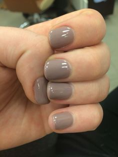 Neutral short gel nails #gelnailpolish