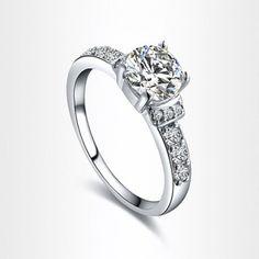 Fashionable Rhinestone Circle Ring For Women #jewelry, #women, #men, #hats, #watches, #belts