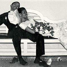 Michelle and Barack Obama on their wedding day. Adorable.