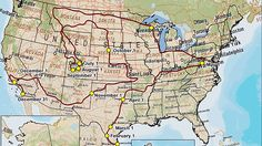 Infographic Map Of Route Across Us For Your With Map Of - Map of i 40 across us