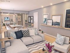 Diy decoracion sala de estar Ideas for 2019 Home Living Room, Apartment Living, Living Room Designs, Living Room Decor, Home Remodel Costs, Home And Deco, Small Apartments, Home Interior Design, New Homes