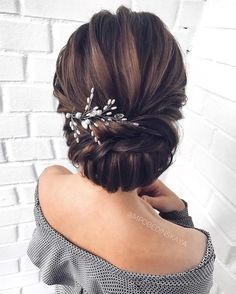 Gorgeous Wedding Hairstyles For the Elegant Bride - Updo Bridal hairstyle Featured Hair Stylish : mpobedinskaya. hairstyle Gorgeous Wedding Hairstyles For The Elegant Bride Hairdo Wedding, Bridal Updo, Wedding Hair And Makeup, Bridal Hair Updo Elegant, Wedding Gowns, Wedding Bride Hairstyles, Bridesmaid Hair Updo Elegant, Wedding Hair Styles, Hairstyles For Weddings