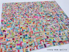 Today I'd like to kick off the scrap vortex quilt along! It's going to be very informal and hopefully a lot of fun. If you are looking to make a dent in some of your scrap bins, this quilt along is fo