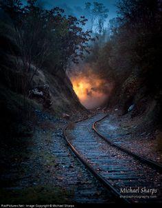 Net Photo: 3 Sierra Railroad Steam at Sonora, California by Michael Sharps Motor A Vapor, West Coast Road Trip, Bonde, Old Trains, Train Pictures, Train Tracks, Railroad Tracks, Paths, Natural