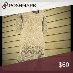 Gray lace dress LIMITED QUANTITIES Gray lace dress in pure boutique style Fashionomics Dresses Mini
