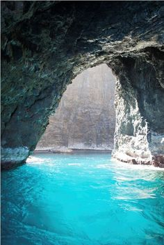 Napali Coast Cave ~ Kauai, Hawaii