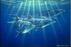 Amazing Tiles LLC Dolphin Photo Wall Back Splash Tile Mural 1451  Tile