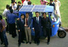 Solar Power Solect Hybrid Rickshaw by Iqra University Karachi Students.