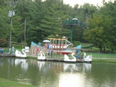 Camden Park, West Virginia's only amusement park—over 100 years old (shows the Swan boats, one of the newer additions) Virginia Homes, West Virginia, Camden Park, Ohio River, Old Shows, Take Me Home, Amusement Park, View Image, Swan