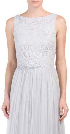 Sleeveless Lace Top #wedding #ideas #bridesmaids #dresses #lace