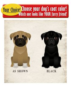 Pug Drinking Dogs Original Art Poster Print by DogsIncorporated
