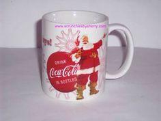 Happy Holidays Coke Coca Cola Cup Coffee Mug Ceramic Santa Christmas