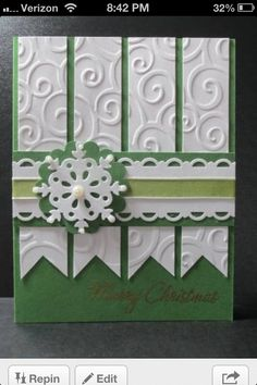 christmas cards by - Cards and Paper Crafts at Splitcoaststampers Homemade Christmas Cards, Christmas Cards To Make, Xmas Cards, Handmade Christmas, Homemade Cards, Holiday Cards, Winter Karten, Karten Diy, Embossed Cards