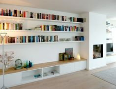 Trendy home library lounge bookshelves ideas Home Living Room, Interior, Home, Floor Lounging, Living Room Shelves, House Interior, Interior Design, Home And Living, Trendy Home
