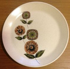 "Retro Johnson OF Australia Side Plate Bros Brothers ""Pamplaya"" Flowers"