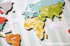 free printable maps with the continents, oceans and united states. Also, free smaller versions for learning fun.
