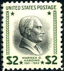 Warren Gamaliel Harding 2 Dollar postage stamp