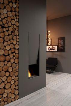 Termocamino in acciaio IL CANTO DEL FUOCO® - Antonio Lupi Design®