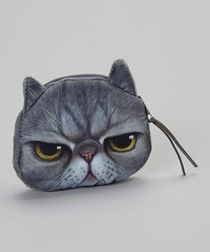 Another great find on #zulily! Gray Grumpy Cat Coin Purse by Owl Bee Mod #zulilyfinds