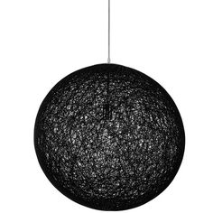 Spool Pendant Light in Black - Large