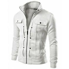 Mens Jacket High Neck Cotton Zipup Jacket  (606:DOUBLJU)
