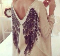 I absolutely love anything with wings on it! I want this snuggly looking shirt