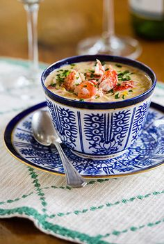 Lobster and corn is a match made in heaven. This richly creamy chowder, enhanced with bacon, brandy and aromatics will wow your guests and grace any summer table