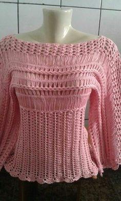 como hacer blusas tejidas con horquilla