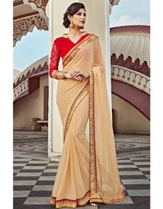 Awesome Beige #Saree