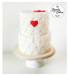 Bolo corações / Hearts Cake - The Family Cakes